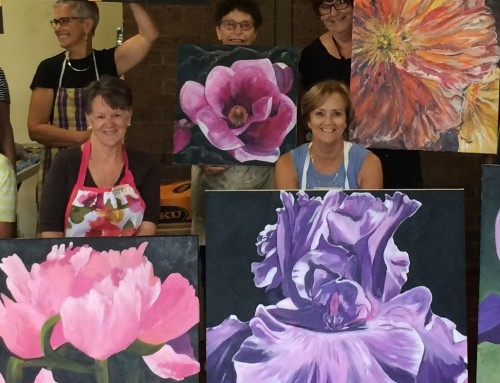 Fijian Macro Floral workshop in acrylics with Tracey Miller November 17 -24