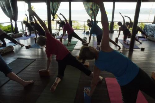 A yoga retreat underway at Daku Resort, Savusavu.
