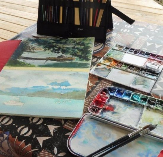A collection of watercolour paintings by John Haycraft.