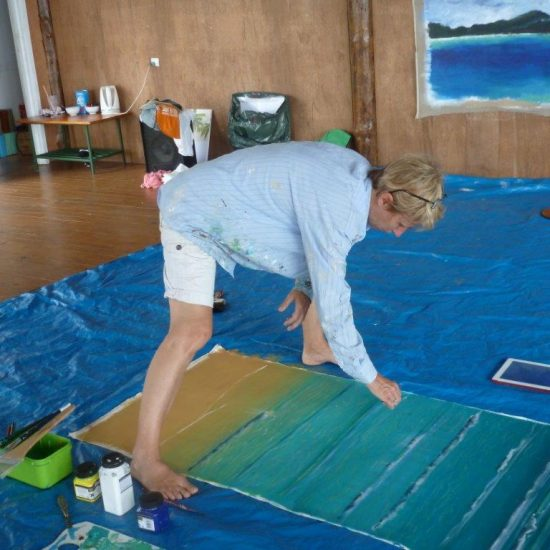Mark Waller Acrylic Painting course Fiji Daku Resort