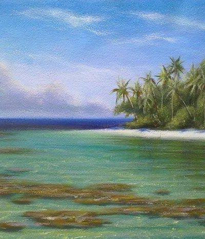 Mark Waller acrylics painting workshop in Fiji