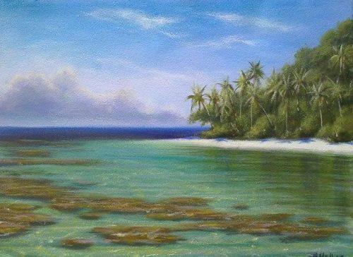 Mark Waller acrylics painting workshop in Fiji
