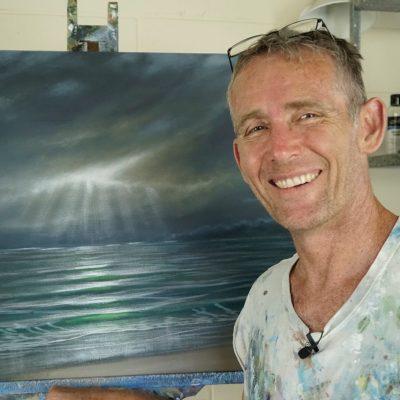 Mark Waller acrylics Fiji workshop