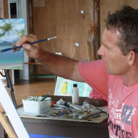 Mark Waller acrylics painting workshop Fiji