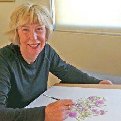 Leonie Norton sketching tour Fiji